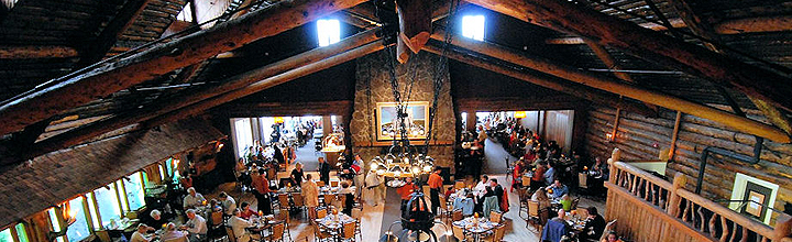 Old Faithful Dining Hall - Yellowstone National Park
